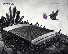 Polaroid - Grey Label by *he1z on deviantART #work #design #graphic #advertising