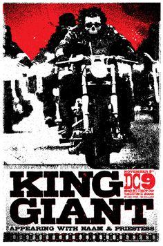 King Giant - Gig Poster