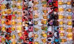 Praying with food by Noor Ahmed Gelal