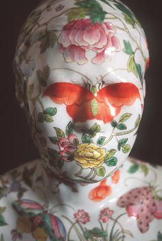Ah Xian Sculpture - ΛNDBΛMNΛN #xian #sculpture #ah #floral #butterfly #bust #statue