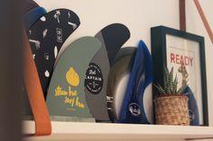 fin shelf , DIY leather straps