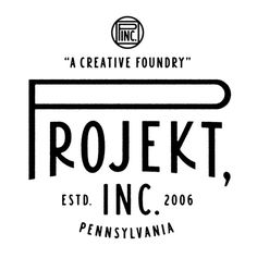 Projekt Inc. #type #logotype #mark #pennsylvania