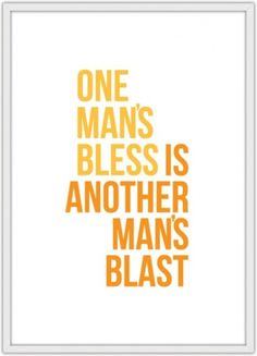 Blast/Bless #print #poster #typography