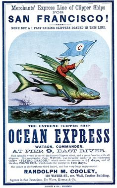 ships006.jpg (Image JPEG, 492x790 pixels) #ocean #travels #card #1855 #sailing #ship #vintage #express