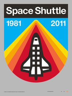Draplin Space Shuttle #graphic #logo