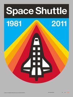 Draplin Space Shuttle #graphic #logo