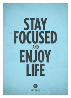 Inspirational quotes wall decor Stay focused and by NeueGraphic