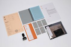 Print Collateral #invoice #stamp #branding #business #print #slip #orange #grid #identity #collateral #stationery #passport #notebook #letterhead #cards #compliment