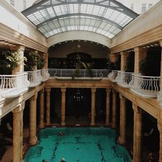 photography - meganprycedesigns.com #budapest #travel #hungary #pool #photography #bathhouse #swimming