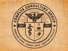 Design / medical crest #medical #emblem #crest