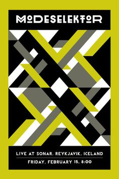 Posters / Modeselektor Concert Poster — Designspiration on imgfave