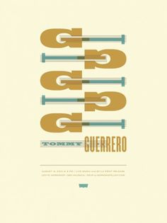 JASON MUNN - Tommy Guerrero - Poster #munn #small #jason #letterpress #the #stakes #poster #typography