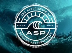 Association of Surfing Professionals #logo #identity #surf