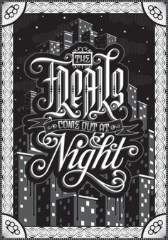 "Typeverything.com - ""The Freaks"" Poster - Typeverything #lettering #design #poster"