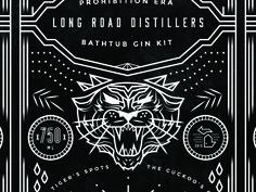 Gin Kit - Tiger Illustration ___ Josh Kulchar