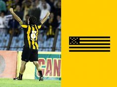 Branding Club Atlético Peñarol on the Behance Network #montevideo #uruguay #brazalete #bicco #tony #de #fabian #pacheco #capitan #pearol