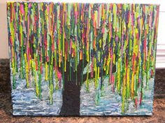Weeping Willow Tree - 30+ Cool Melted Crayon Art Ideas #melted #tree #painting #art #crayon