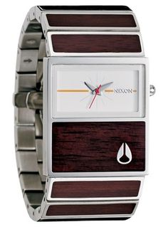 The Chalet - Nixon Watches and Accessories at nixonnow.com #minimal #wood #watch #product design #clean #brown