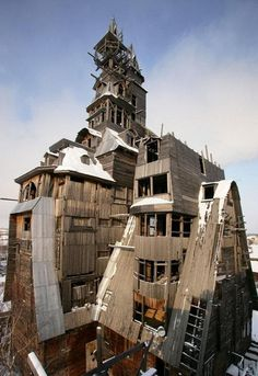 Wooden Gagster House (Archangelsk, Russia) #building #architecture #house #interesting