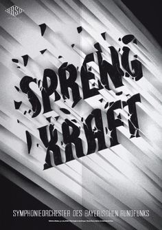 Typeverything.comPoster (3 of 13) from a campaign for the Bavarian Radio Symphony Orchestra by Mirko Borsche. #vintage #typography