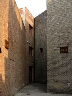 Grey Brick Galleries, Red Brick Galleries, Three Shadows Photographic Centre by Ai Weiwei at Cao Chang Di, Beijing #brick #masonry #architecture #facades