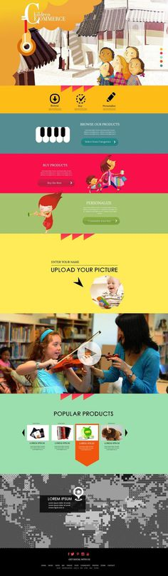 | Children E commerce Design Concept | #commerce #websiteconcept #parallax #e #layout