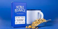 Noble & Savage Tea #packaging #typography