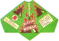 BLAZING WIGWAM #packaging #fireworks #wig #wam