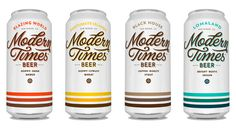 Modern Times Beer Packaging by Simon Walker & Christian Helms #logo #packaging #beer #lettering