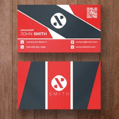 Red and black corporate business card Free Psd. See more inspiration related to Logo, Business card, Business, Abstract, Cover, Card, Template, Office, Visiting card, Layout, Presentation, Website, Stationery, Corporate, Company, Modern, Branding, Visit card, Symbol, Print, Identity, Brand and Simple on Freepik.