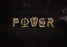 POWER 2011 by ~crymz #west #kanye #power #smbstudios #gold #crymz #typography