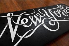 New York skateboard | Coffee made me do it #white #deck #board #black #skateboard #york #type #new