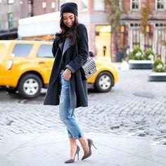 The Fling Super Luxe Destroy Repair Jeans by Current/Elliott #fashion #portrait #jeans
