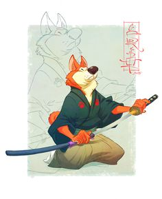 Samurai Dogs & Indian Warrior