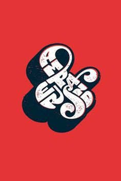 Ampersand #handcrafted #design #graphic #type #typography