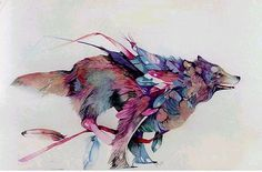 nonclickableitem #illustration #animal #wolf