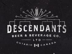 The Descendants Beer logo by Josip Kelava #descendants #beer #logo #josip #kelava #vintage #white #black #line #canada #retro