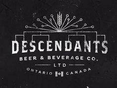 The Descendants Beer logo by Josip Kelava #descendants #beer #logo #josip #kelava #vintage #white #black #line #canada #retro