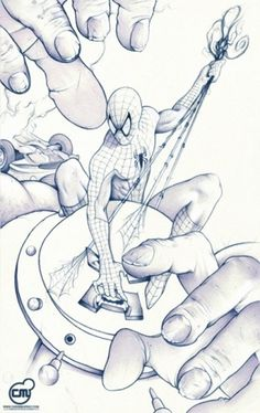 Visual Stimulator #spiderman #artwork #illustration #marvel #juggernaut #comics #drawing
