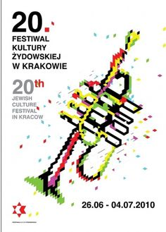posters for jewish culture festival in Krakow on the Behance Network