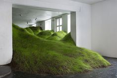 Per Kristian Nygård Invades Indoor Spaces with Plant Life Installations | Hi-Fructose Magazine #grass #plants #art #installation