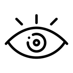 See more icon inspiration related to eye, vision, view, optic, shapes and symbols, healthcare and medical, ophthalmology, visibility, eyeball, optical, visible, eyes, interface and medical on Flaticon.