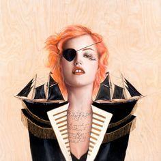 Chairmaine Olivia Illustrations | Trendland: Fashion Blog & Trend Magazine #olivia #chairmaine #pirate