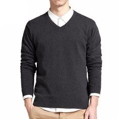 "gentclothes: ""Dark Grey V-Neck Sweater - Use code TUMBLR10 to get 10% OFF! """