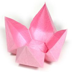How to make a simple origami lotus flower (http://www.origami-flower.org/howto-origami-lotus.php)