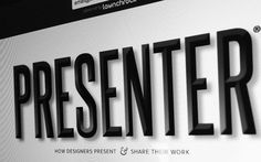 • PRESENTER is now on Behance! #responsive #design #web #typography