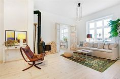 Vy mot arbetsrum/sovrum #interior #design #stockholm #decoration