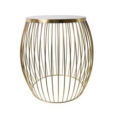 Miami Wire Stool Gold 44.5cm x 44.5cm x 47cm