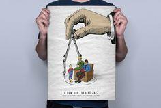DUN DUN - ignacio fretes #illustration #typography #poster #retro #poster design #dun dun