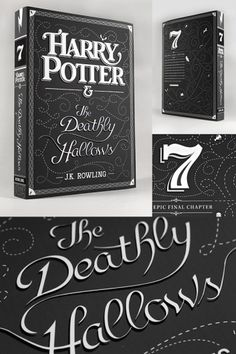 Harry Potter & The Deathly Hallows Typography